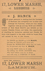 Advert For J. Black's Boot & Shoe Store